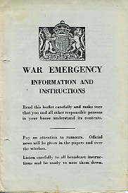 War Emergency Information & Instructions