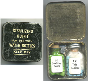 Water Sterilising Kit-WW2 period