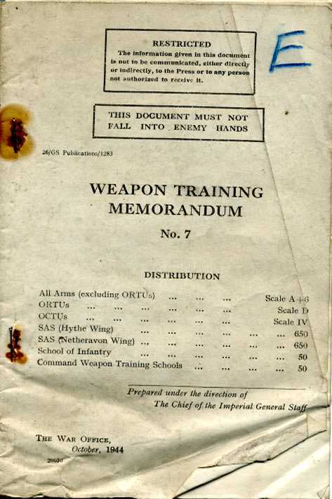 Weapons Training Memorandum No7 1944