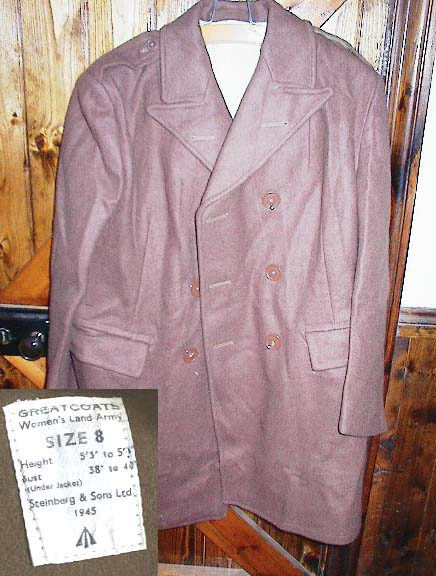 WLA Greatcoat, size 2, genuine