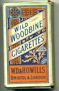 Woodbine Empty Cigarette packet