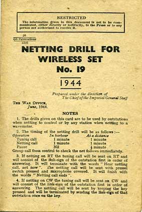 WS19 Netting Drill 1944 (Original) £9.50